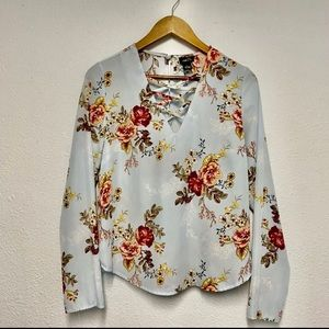 🦋Women's Rue21 Floral Long Sleeve Blouse Sz S